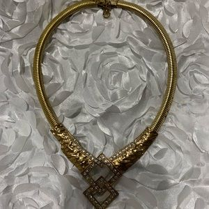 Accessories - Gold tone necklace with studs